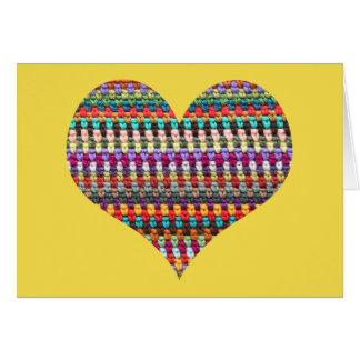 Crochet Card - Heart Crochet Greeting Card