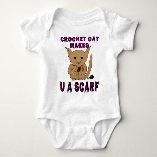 Crochet Cat Makes U A Scarf Baby Bodysuit