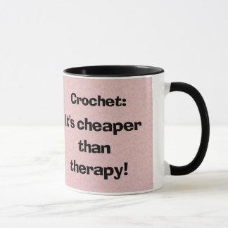 Crochet: Cheaper Than Therapy Coffee Mug