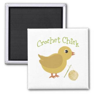 Crochet Chick Magnet