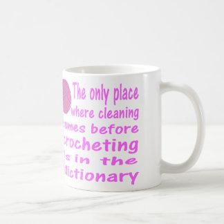 Crochet Coffee Mug, Cleaning vs Chrocheting Coffee Mug