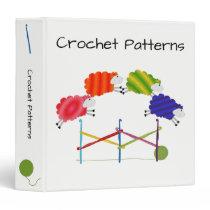 Crochet Colorful Sheep Binder
