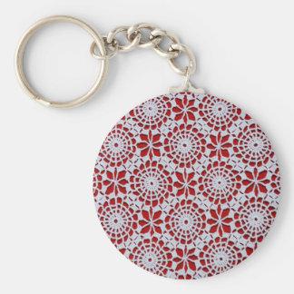 Crochet Design Basic Round Button Keychain