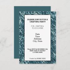 Crochet Design Crafting Party Invitation Card