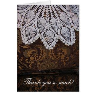 Crochet doily Thank You Card