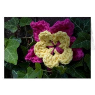 Crochet Garden - Flower in the Ivy Card