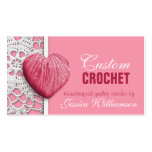 Crochet - Heart Shaped Yarn Pink Business Cards