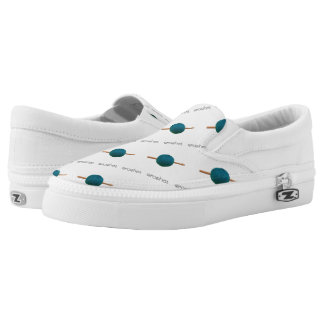 Crochet Hook & Yarn Crafts {Any Color} Slip-On Sneakers