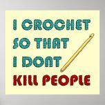 Crochet, imprimo posters