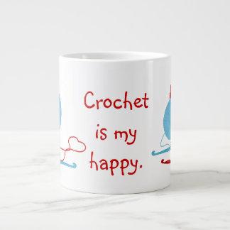 Crochet Is My Happy 20 Oz Large Ceramic Coffee Mug