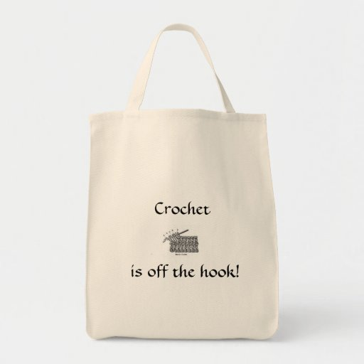 Crochet is off the hook! grocery tote bag
