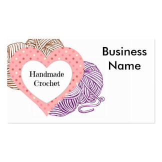 Crochet la tarjeta de visitas con hilados y el tarjetas personales