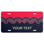 Crochet Lace License Plate
