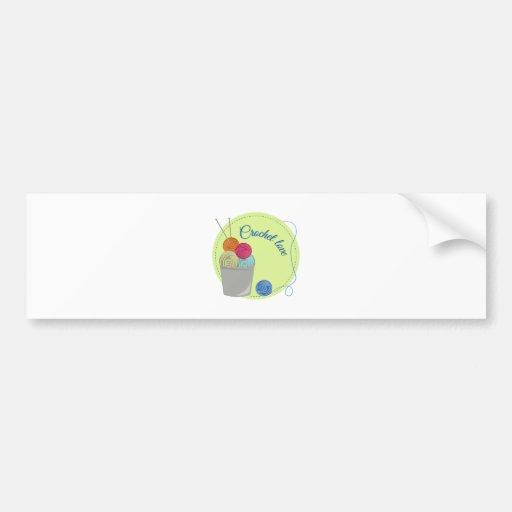 Crochet Love Bumper Sticker