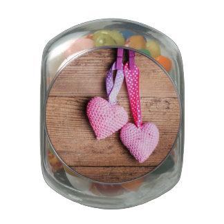 Crochet Lovely Hearts Jelly Belly Candy Jar