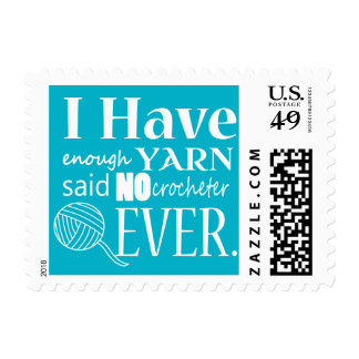Crochet Not Enough Yarn Crafts Postage