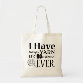 Crochet • Not Enough Yarn Crafts Tote Bag