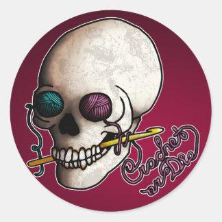 Crochet or Die, Classic Round Sticker