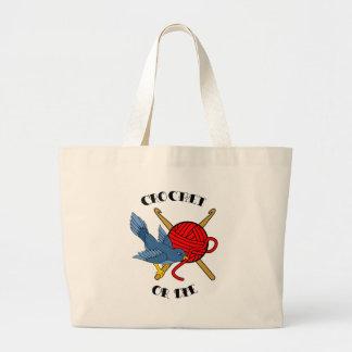Crochet or Die Tattoo Jumbo Tote Bag