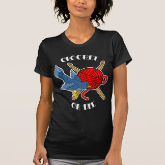Crochet or Die Tattoo Tee Shirts