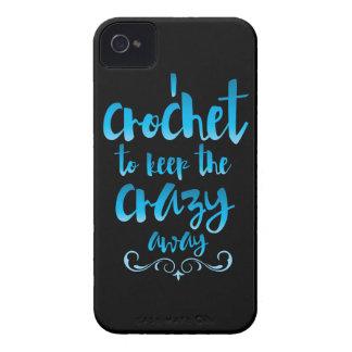 Crochet para guardar el azul ausente loco Case-Mate iPhone 4 cobertura