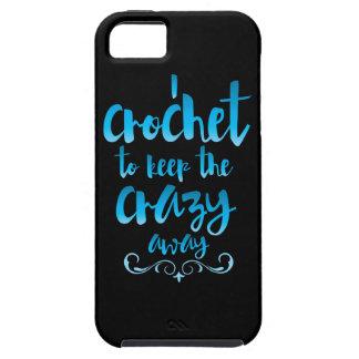 Crochet para guardar el azul ausente loco iPhone 5 fundas