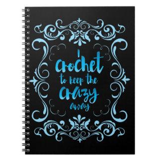 Crochet para guardar el azul ausente loco libros de apuntes