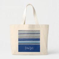 Crochet Pattern - Blue Stripes Bag