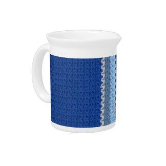 Crochet Pattern - Blue Stripes Beverage Pitcher