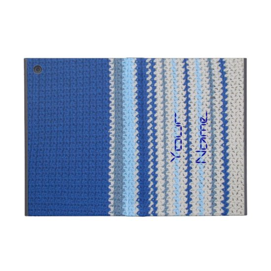 Crochet pattern - blue stripes cover for iPad mini