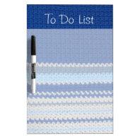 Crochet Pattern - Blue Stripes Dry Erase Boards