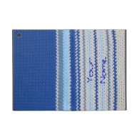 Crochet pattern - blue stripes iPad mini case