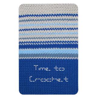Crochet pattern - Blue Stripes Magnet