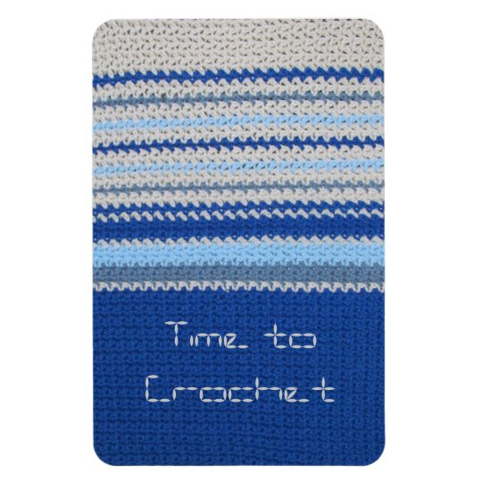 Crochet pattern - Blue Stripes Magnet