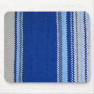 Crochet Pattern - Blue Stripes Mouse Pad