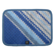 Crochet Pattern - Blue Stripes Organizers