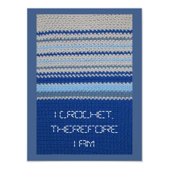 Crochet Pattern - Blue Stripes Poster