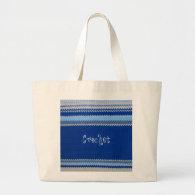 Crochet Pattern - Blue Stripes Tote Bag