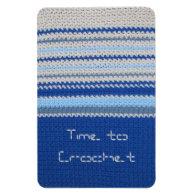 Crochet pattern - blue stripes vinyl magnets