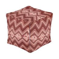Crochet Pattern Cube Pouf