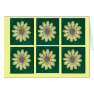 Crochet Pattern - Daisy Cards