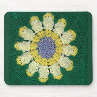 Crochet Pattern - Daisy Mouse Pad