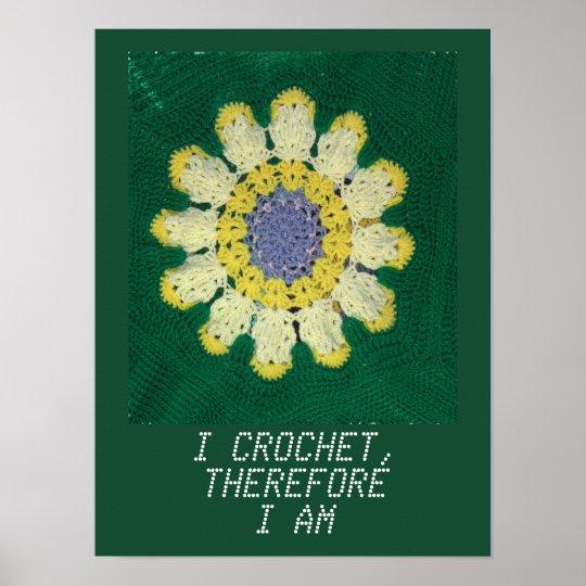 Crochet Pattern - Daisy Poster