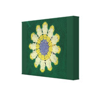 Crochet Pattern - Daisy Stretched Canvas Print