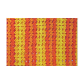 Crochet pattern - Orange shells Canvas Print