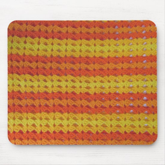 Crochet pattern - Orange shells Mouse Pad
