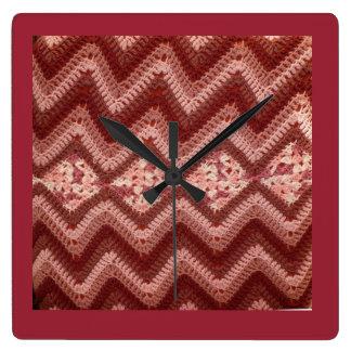 Crochet Pattern Square Wall Clock