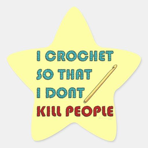 Crochet, Pegatina En Forma De Estrella
