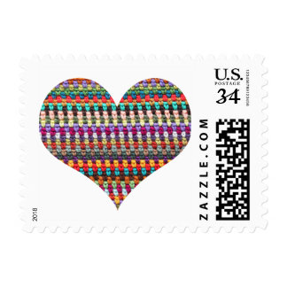 Crochet Postage Stamps - Crochet Heart
