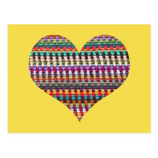 Crochet Postcard - Crochet Heart Postcard